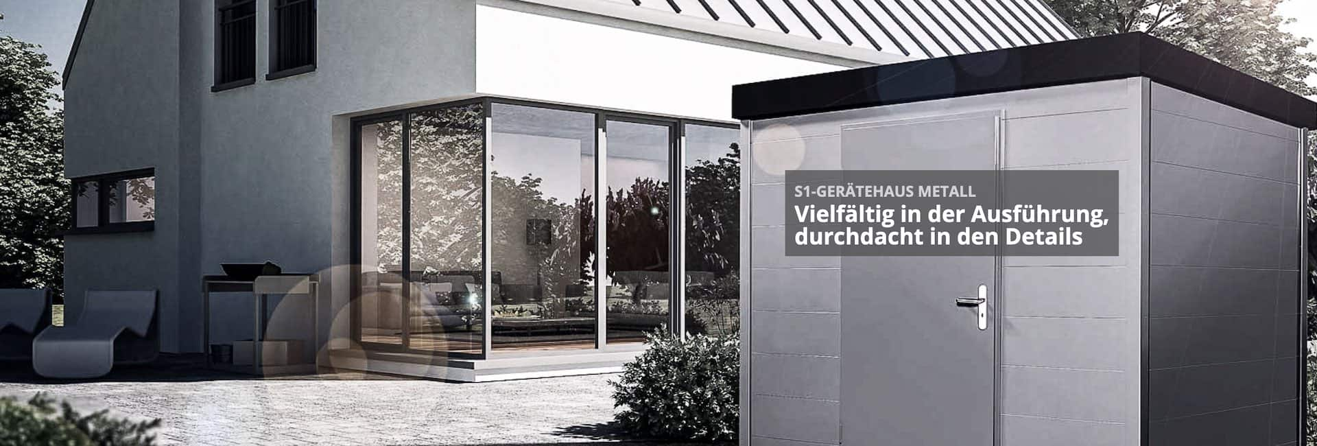 Gartenhaus S1 Metall 2021