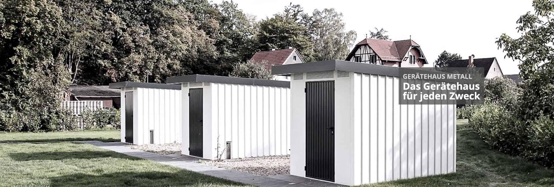Gartenhaus Metall